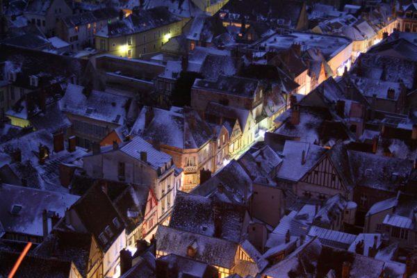 The Grande Rue of Sens in winter