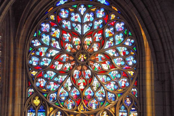 One of the cathedrale's stained-windows